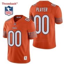 fcfb82e7cd639 Salto Jersey hombre Jersey de Chicago Camisetas fútbol americano Jersey  personalizado tamaño S-XXXL Color naranja envío gratis b.