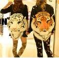 Super! Cabeça do leão tigre emulação mochila, Saco para meninas meninos, 100% cabeça de foco partido rainha rei bonito