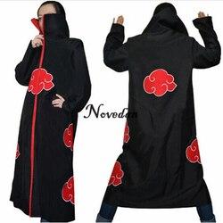 Naruto cosplay traje akatsuki manto hoodie naruto uchiha itachi anime cosplay traje