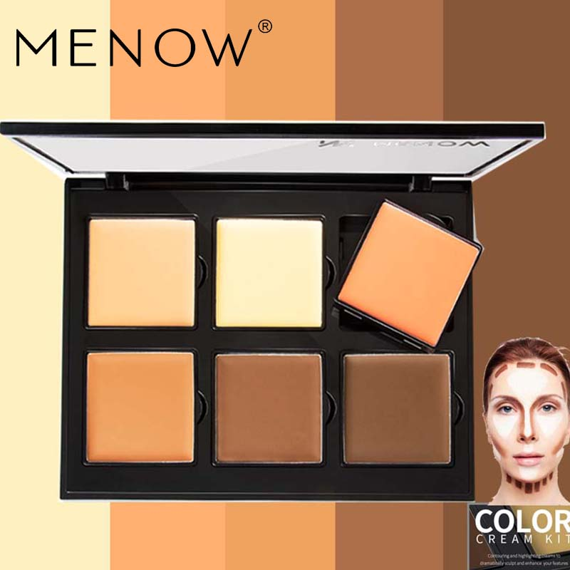 MENOW 6Colors <font><b>Eye</b></font> Concealer Natural Palette Perfect <font><b>for</b></font> Concealing Blemishes / Discoloration Imperfections and Under <font><b>Eye</b></font> Circles