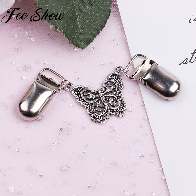 Women Butterfly Sweater Blouse Shirt Collar Shawl Clips Cardigan Collar Duck Mouth Clip Pins Scarf Clasps Jewelry Brooches