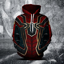 SzBlaZe Steel Spider-Man 3D Print Casual Hoodies the Super Hero film Sweatshirt With Cap The Avengers Autumn Pullovers Clothing