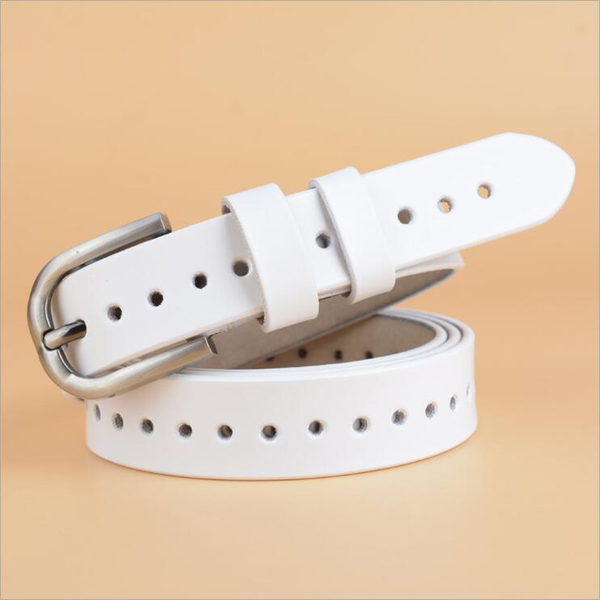 2019 Genuine Leather Pin Buckle Women Designer Belt Cowskin Fashion Lady Hollow Out Jeans Belt Quality Guarantee ZLB114