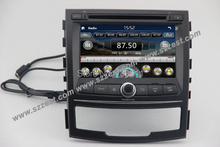 Free Shipping! ZESTECH wholesales 2Din Touch screen dvd gps navigation system radio car Multimedia player for Ssang Yong Korando