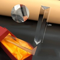 Треугольная призма с оптическим стеклом точность K9 правый угол света отражающий геодезический физика обучение спектр Призма
