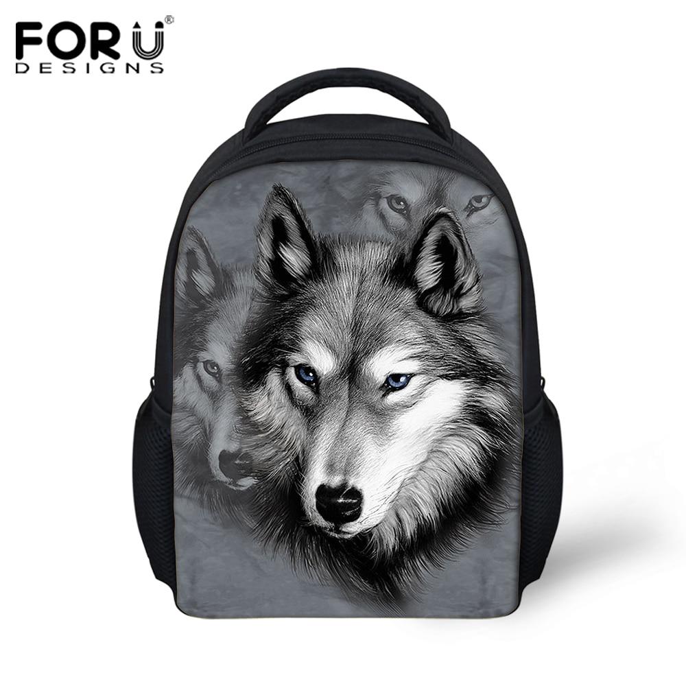 1fdb7099b1 cartoon animal kids backpacks kindergarten cool 3d wolf small shoulder bags  baby children bag pack toddler mochila infantil