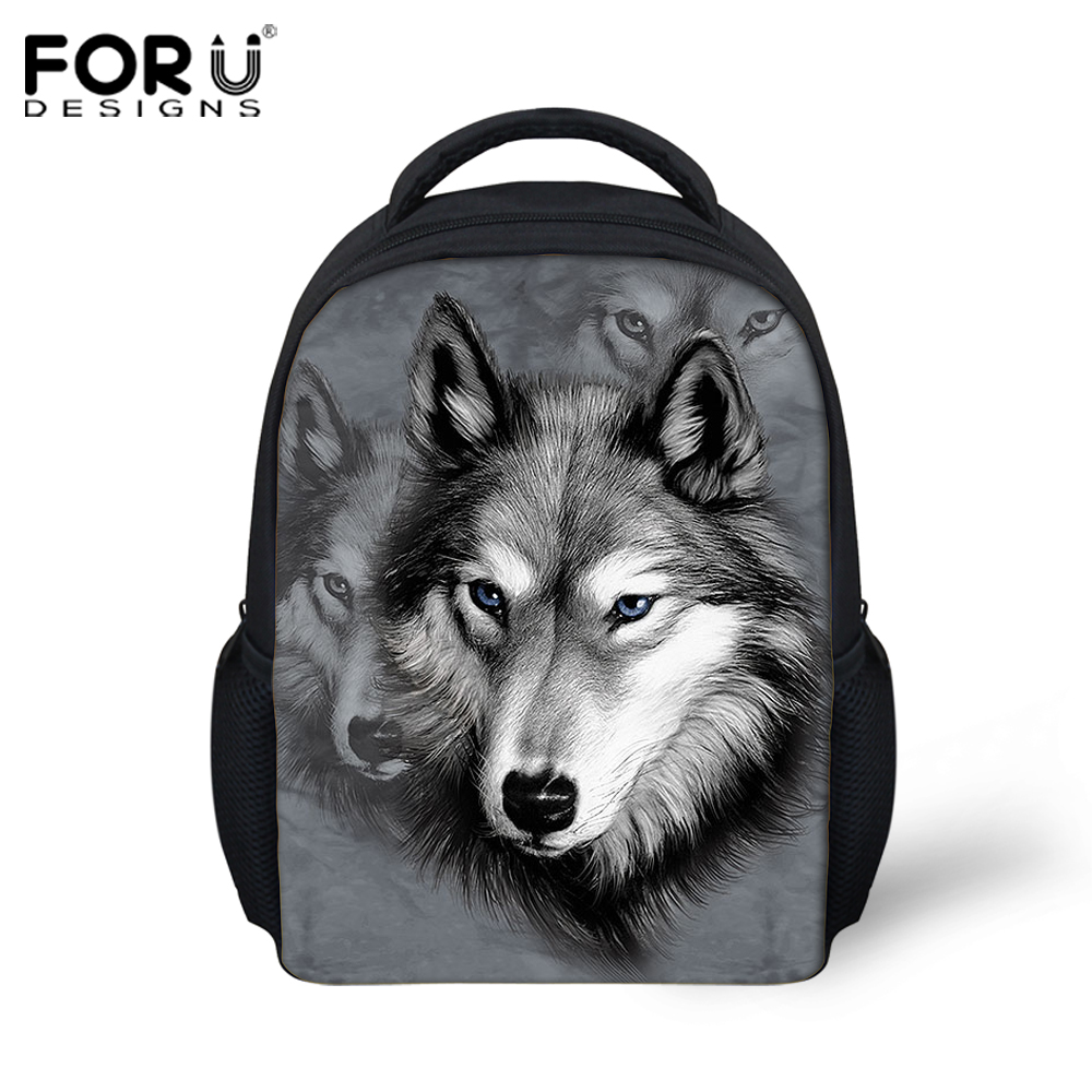 cartoon animal kids backpacks kindergarten cool 3d wolf small shoulder bags baby children bag pack toddler mochila infantil