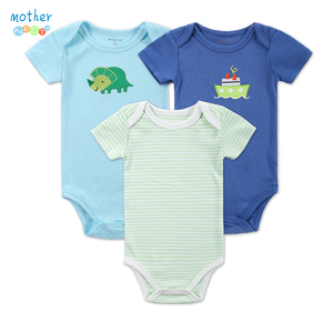 3 Pieces/Lot New Baby Footies Summer Cool and Comfortable Baby Clothes Set thin Cotton Baby Siamese footy Infant Climb Clothing