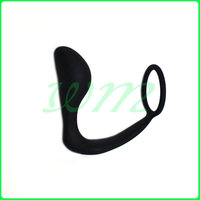 Men Climax Fantasy Silicone Male Prostate Massager Cock Ring Anal Sex Toys Butt