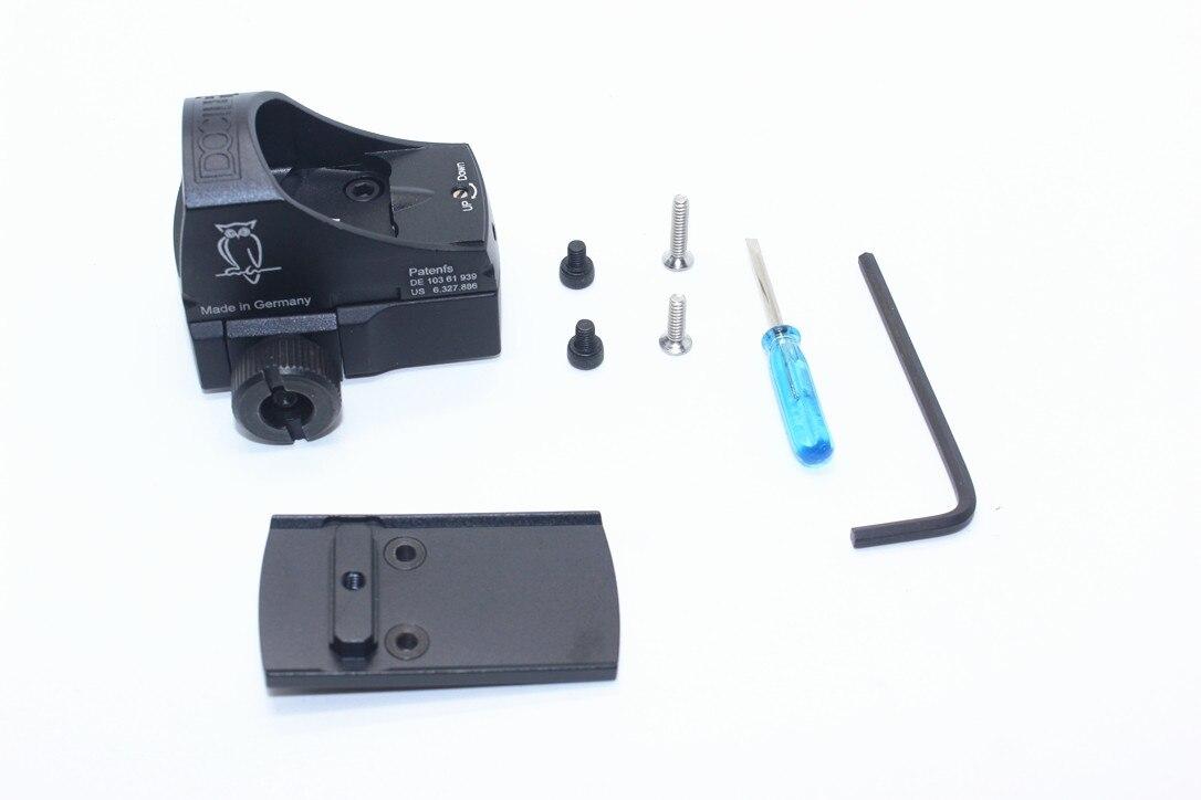 MAGORUI Mini Optik III Reflex 1x20 Red Dot Anblick-bereich Schwarz Jagd Umfang