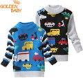 Los bebés y las niñas suéteres de dibujos animados 0-3 años los niños pequeños suéter cardigans suéteres de moda de primavera y otoño 2016 nuevo