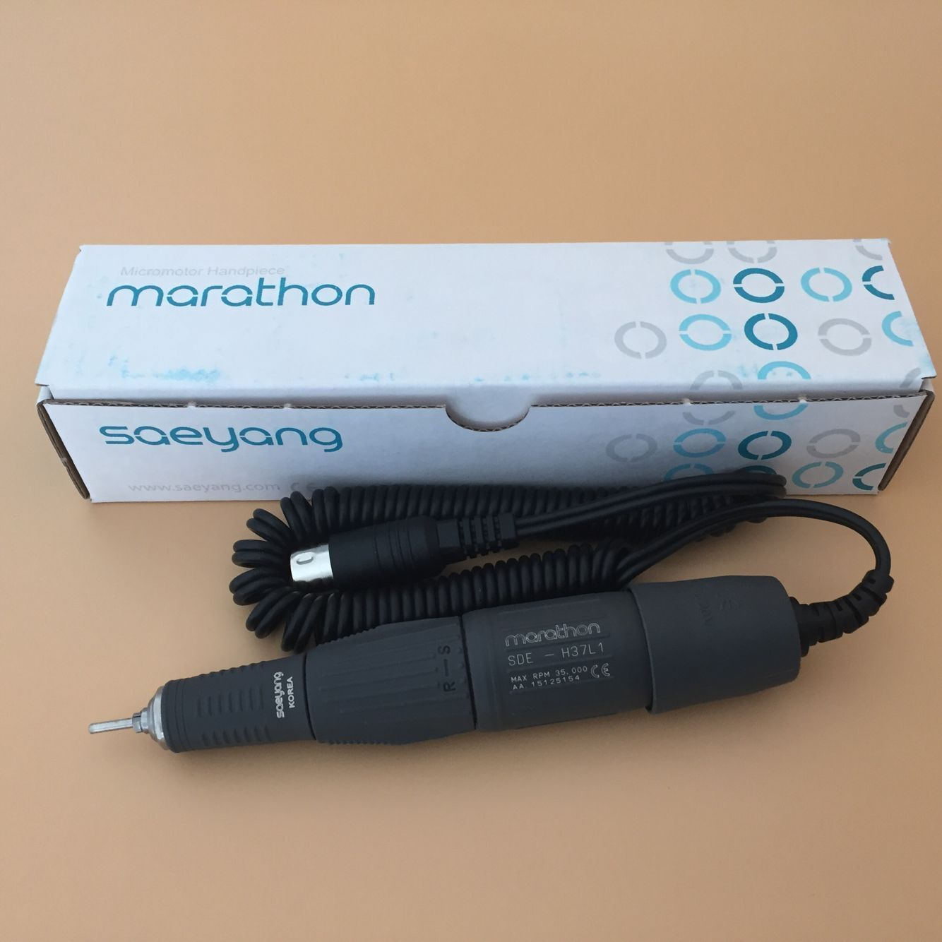 Dental Marathon Lab Electric Micro motor Motor Handpiece for Polishing 35K RPM H37L1 Series Micromotor dental lab marathon handpiece 35k rpm electric micromotor polishing drill burs