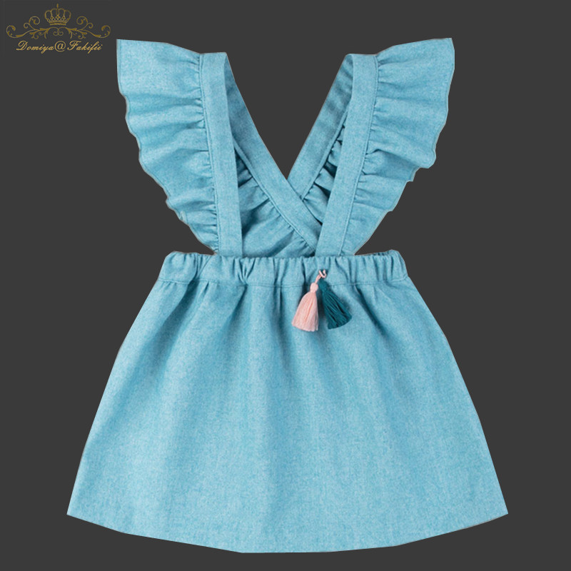 2018 Autumn Baby Girl Wool Dresses For Weddings Children Clothing Kids Clothes Winter Toddler Party Princess Dress With Tassel cute rabbit baby girls princess dress sleeveless autumn winter dresses for toddler 2 8yrs children clothing dress with 3d carrot page 1