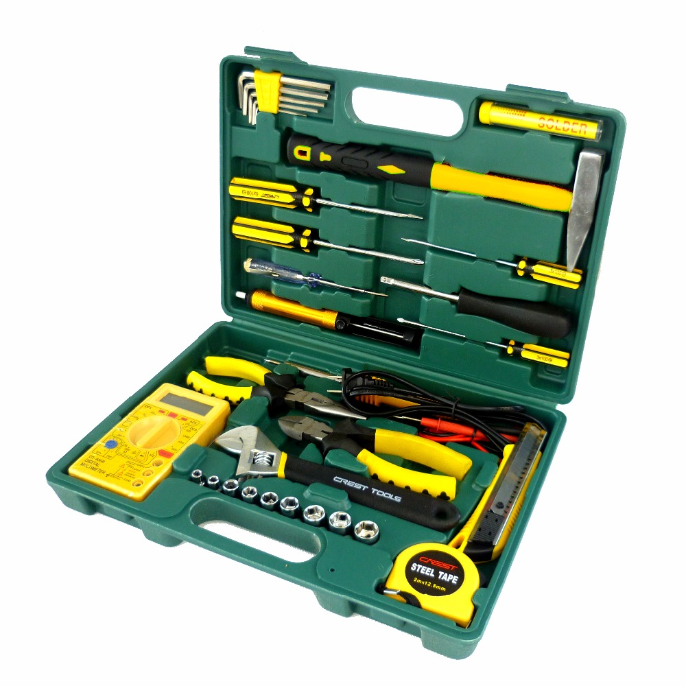Household tool kit telecommunications multimeter electronic maintenance tool sets in hand tool - Household tools ...