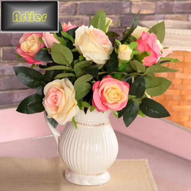 Aliexpress Buy Simulation Roses Silk Flower Artificial Flowers