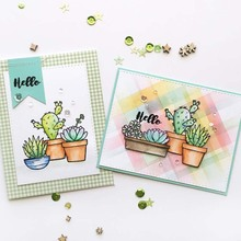 Cactus Transparent Clear Silicone Stamp/Seal for DIY scrapbooking/photo album Decorative card making 2019 New new fish tank transparent sticker clear silicone stamp seal for photo card making album sheets decoration supplies gift
