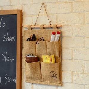 Image 5 - Bolsa de almacenamiento creativa de lona de algodón para oficina en casa