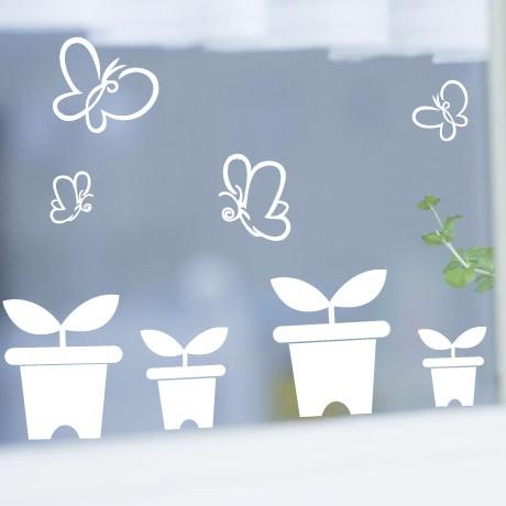 Spring small saplings mother preschool kindergarten decorative glass wall stickers window stickers window grilles paper