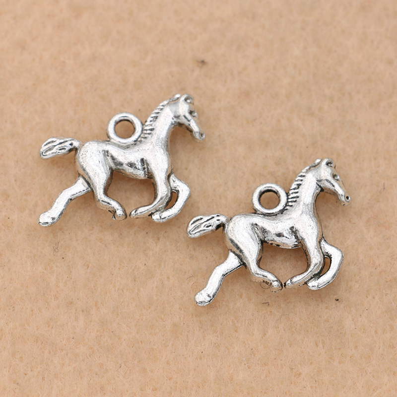 Seahorse Charm//Pendant Tibetan Antique Silver 24mm  10 Charms Accessory Crafts