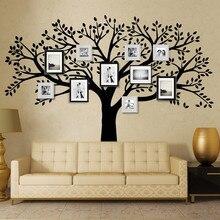 Zn бренд family tree наклейки на стены негабаритных фоторамка Дерево стены наклейки для детской комнаты для гостиная DIY Home Декор