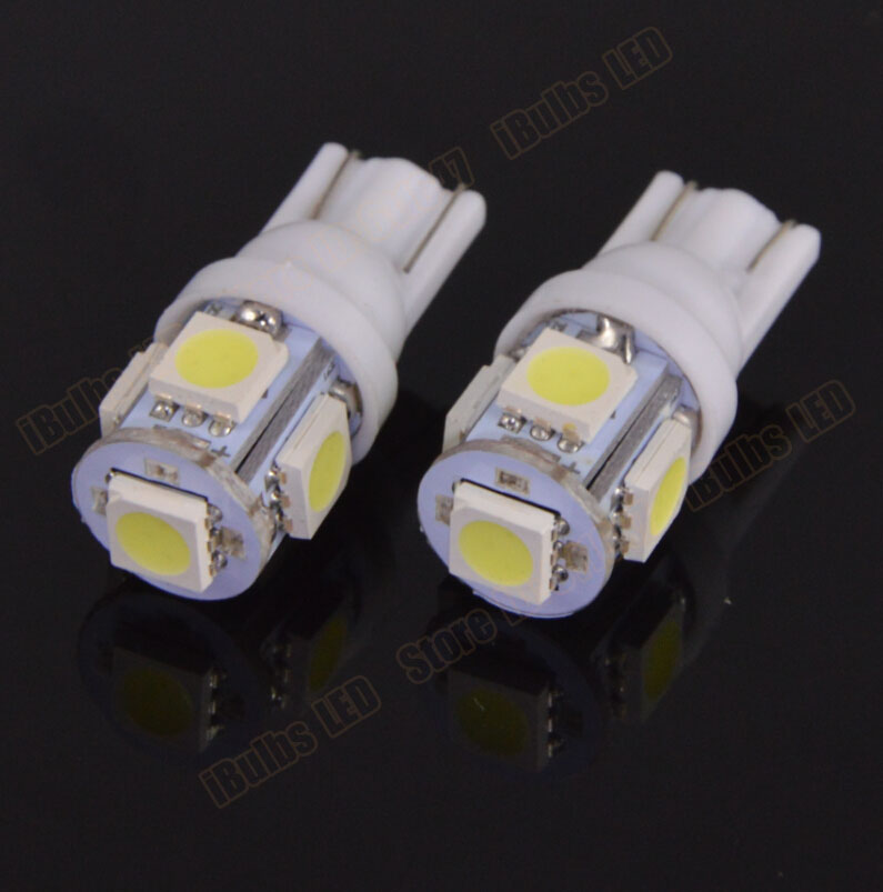 10Pcs Wholesale T10 5 SMD 5050 W5W 194 501 LED Car Auto Clearance Interior Lights Marker Lamps DC 24V