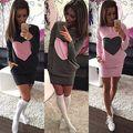Fashion Winter Women Long Sleeve Bodycon Party Sexy Mini Dress Sweatershirts