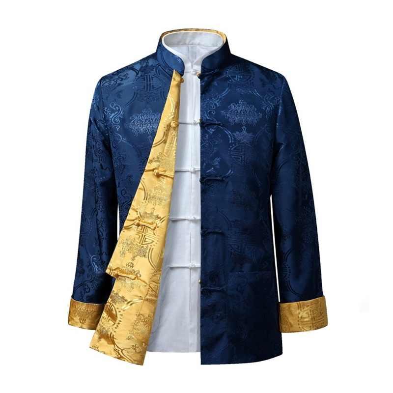 Traditionele chinese kleding voor mannen mannelijke oosterse winter jas voor mannen wushu kung fu outfit kleding jassen mannen 2018 TA100