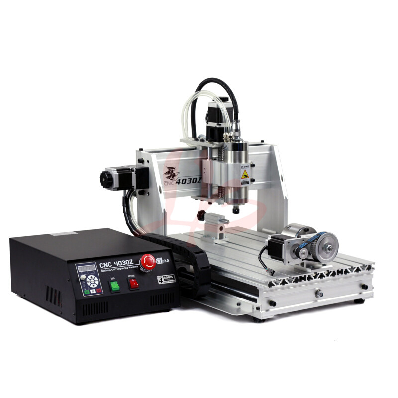 4axis cnc router machine 4030 with 1500W cnc spindle and ball screw work for wood include tax to Europe eur free tax cnc 6040z frame of engraving and milling machine for diy cnc router