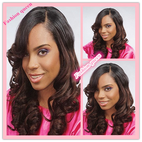 Beautiful Wedding Hairstyles For Black Women Long Wavy Ombre Full