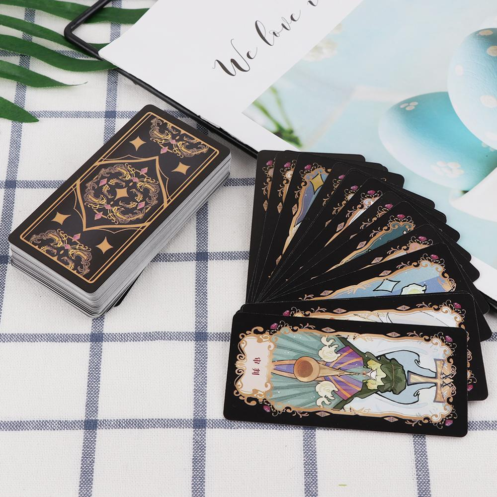 Student Tarot Cards With Colorful Box Mysterious Divination Astrology Board Game