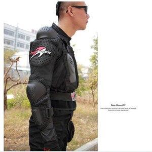 Image 4 - Motocykl kurtka zbroja kurtka zimowa mężczyźni odporny na uderzenia wyścigi pełne etui ochronne poliester na świeżym powietrzu sprzęt jeździecki odzież