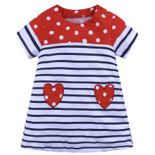 купить Girls Summer Dress Baby Girl Clothes Vestidos 2019 Brand Kids Dresses for Girls Costume Heart Stripes Children Princess Clothing дешево