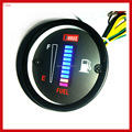 New Unversal 12v / 24v Motorcycle Car Fuel Oil Gauge LED Oil Fuel level scale meter Display Indicator For Modification