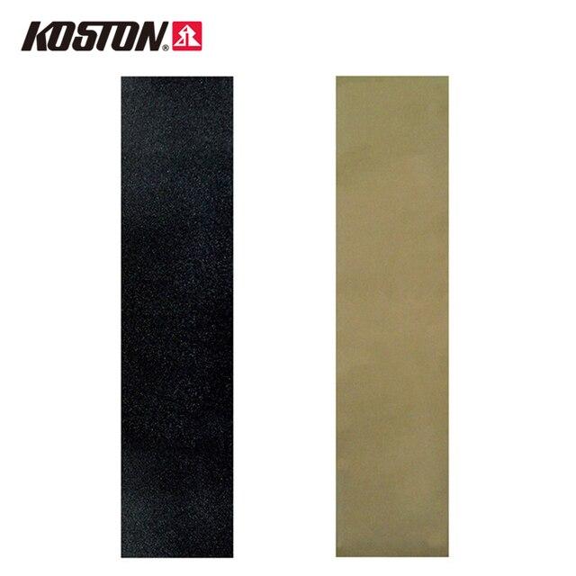 "Koston Black Longboard Grip Tape 45""*10"" Grip Tape PVC Breathable Anti-fracture Sandpaper Long Skateboard Decks AC102"