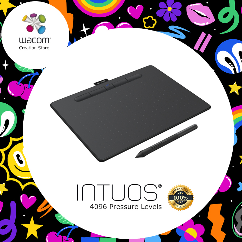 Wacom Intuos CTL-4100 tablette numérique dessin graphique tablettes 4096 niveaux de pression + logiciel Bonus gratuit + paquets cadeaux