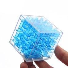 3D Mini hız küp labirent sihirli küp Puzzle oyunu Cubos Magicos öğretici oyuncaklar labirent haddeleme topu oyuncaklar çocuklar için yetişkin AQ1563