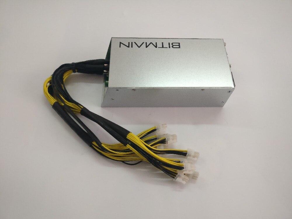 Bitmain APW3 + + 12-1600-A3 (nouveau) 12 v 133A MAX 1600 w BTC LTC DASH Alimentation Pour ANTMINER S9 S9i L3 + D3 E3 Z9 a3 Innosilicon A9