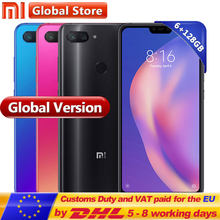Global Version Xiaomi Mi 8 Lite 6GB 128GB RAM ROM Mobile Phone Snapdragon 660 Octa Core 24MP Front Camera 6.26 Inch Full Screen(China)
