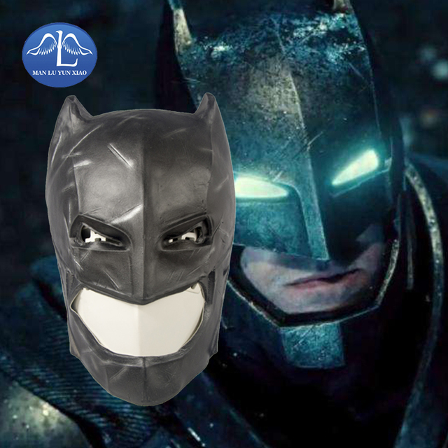manluyunxiao batman mask head deluxe quality adult overhead latex mask carnival halloween props wholesale
