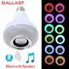 LED Wireless RGB Bluetooth Speaker Bulb E27 85V 265V LED RGB Light Music Playing Lamp With