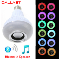 LED Wireless RGB Bluetooth Speaker Bulb E27 85V 265V LED RGB Light Music Playing Lamp With