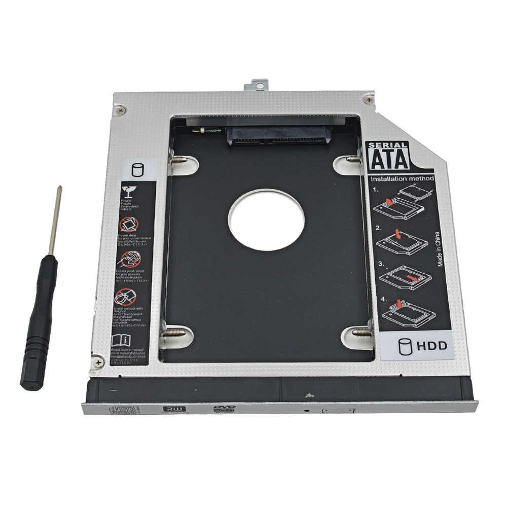 "Aluminium 2nd HDD Caddy 12,7mm SATA 3,0 2,5 ""Für Dell Latitude E5400 E5410 E5420 E5500 E5510 E5520 Hard stick Gehäuse Box"