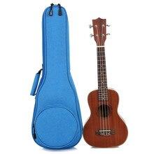 21 inch Ukulele Bag 10mm Cotton Soft Case Gig Waterproof Oxford Cloth Ukelele Hawaii Four Strings Guitar Bag цена