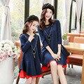 2017 primavera vestidos de ropa de la familia de madre e hija ropa a juego family look clothing adolescentes vestidos mae e filha