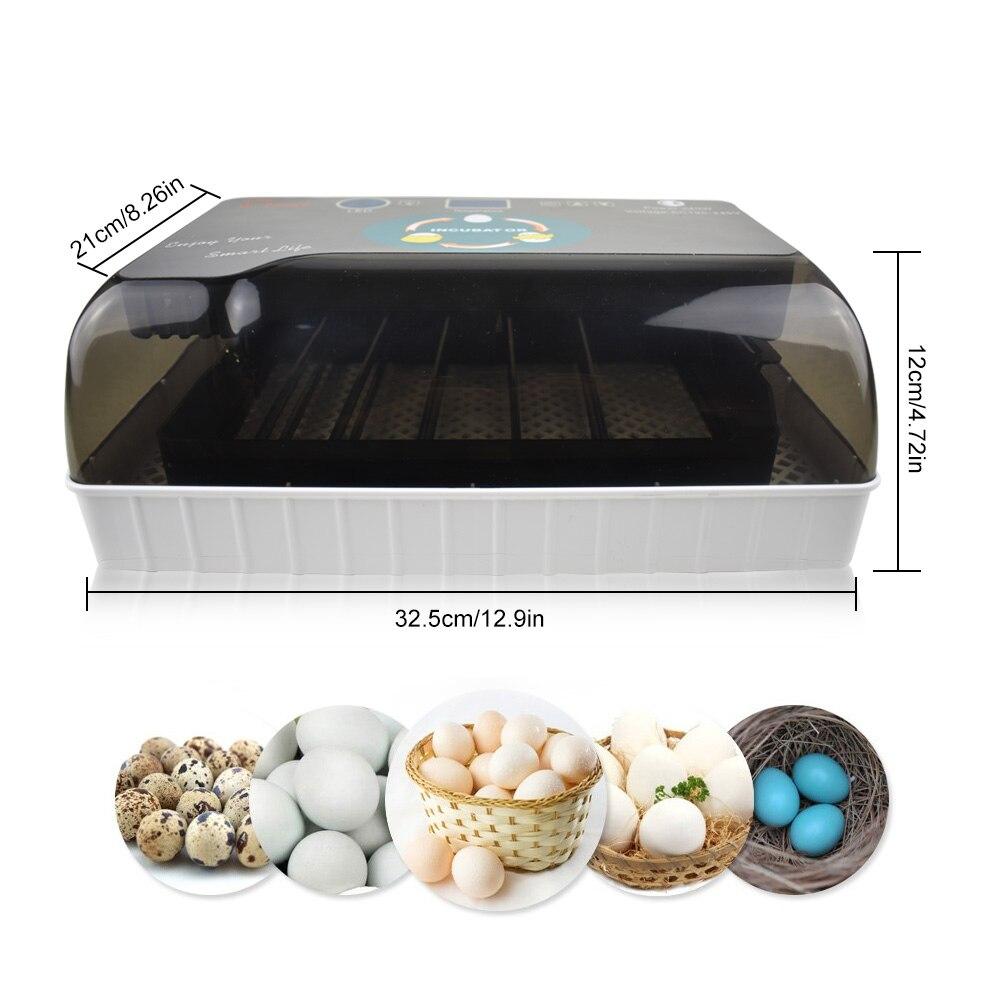 12 яиц автоматический цифровой инкубатор для яиц Домашний Мини инкубационный инкубатор курица утка инкубатор инкубационная машина - 2