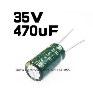Image 1 - 35 V 470 UF 470 UF 35 V 470uf35v 35v470uf התנגדות נמוכה בתדירות גבוהה אלקטרוליטי קבלים גודל: 10*13 10*17 חדש