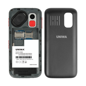 Image 3 - UNIWA V808G Mobile Phone 3G WCAMA SOS Button 1400mAh 2.31 Inch Screen Old Man Cellphone Flashlight Torch Cell Phone For Elderly