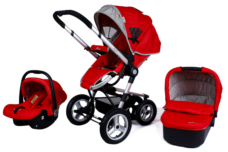 Baby Stroller Newborn Carrycot Car Seat Baby Pram Adjustable Handle and Adjustable Awning Boys and