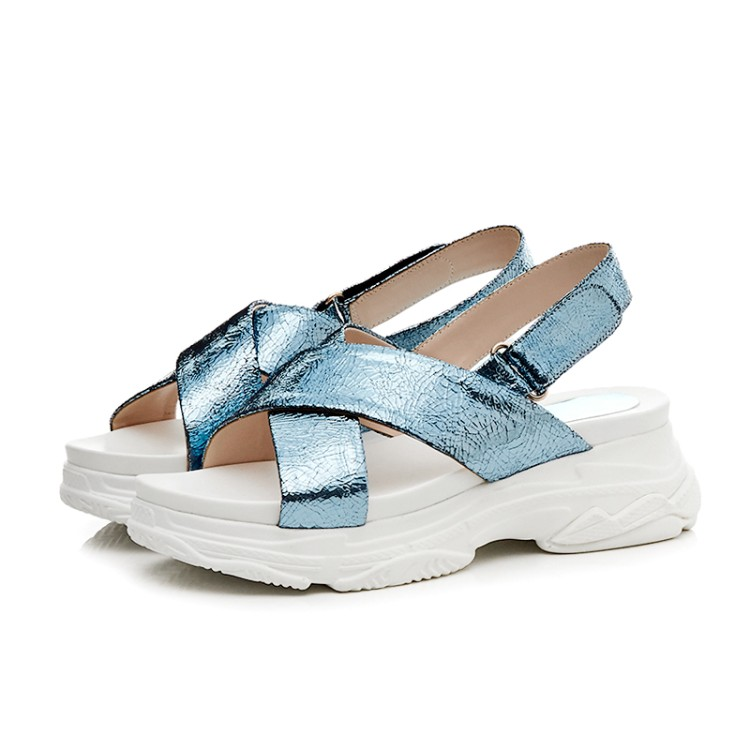 MLJUESE 2018 women sandals breathable Bling bling silver color buckle strap open  toe shoes platform beaches sport sandals - aliexpress.com - imall.com af377980be5e