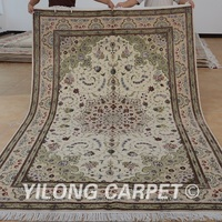 Yilong 6'x9' Oriental traditional chinese wool carpet handmade exquisite indian rugs wool (1402)